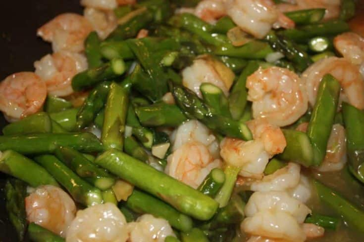 Healthy Asparagus and Shrimp Stir-fry