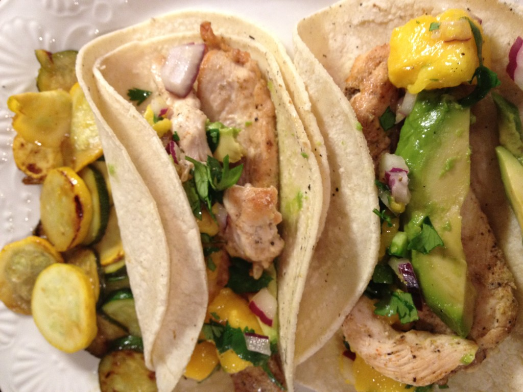 Chicken Tacos Mango Salsa is a quick and healthy meal you can serve in under 30 minutes! The Foodie Affair