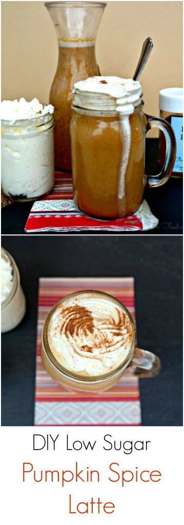 Seasonal Pumpkin Spice Latte made with the milk of your choice, real pumpkin puree, and pumpkin pie spices! Mix with strong coffee and enjoy! The Foodie Affair