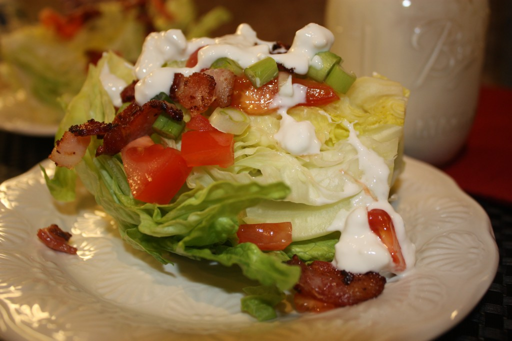 Iceberg Wedge with Homemade Blue Cheese Dressing - The Foodie Affair