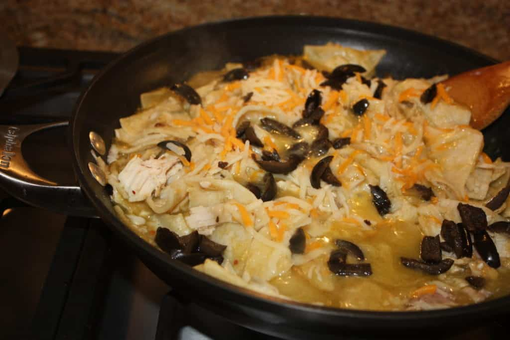 Green-Chicken-enchilada-skillet-recipe-easy