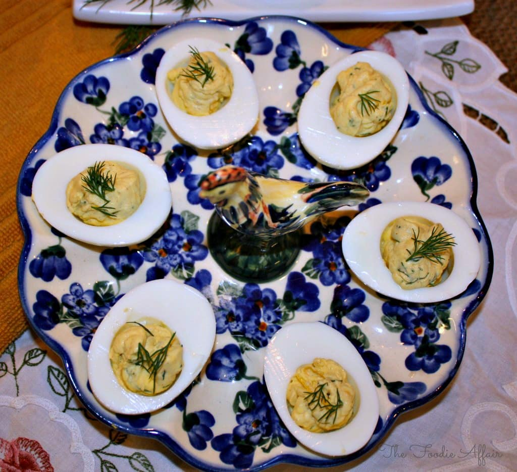 Dill Deviled Eggs - The Foodie Affair
