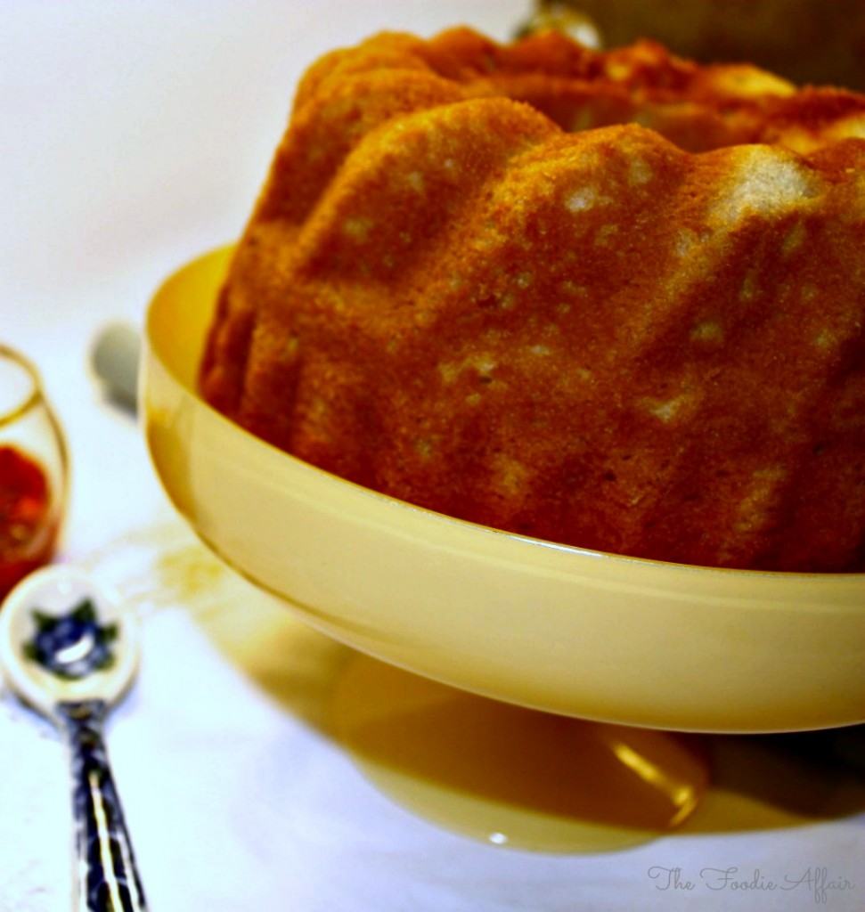 Pound Cake with Strawberry Sauce - The Foodie Affair