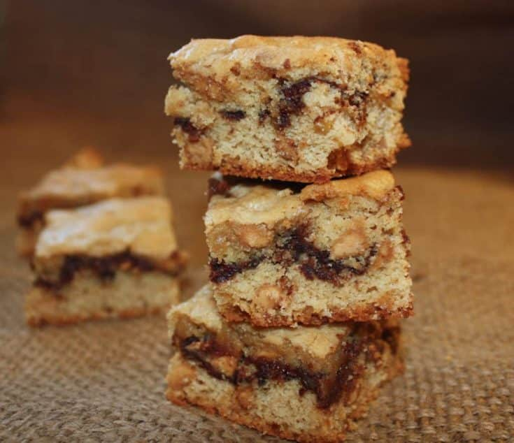 stack of peanut butter chocolate bars
