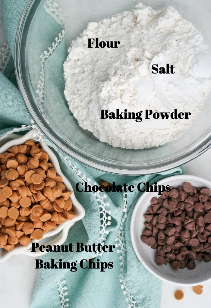 Dry Ingredients for cookie bars.