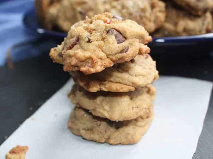 Milk Chocolate Maple Bacon Cookies