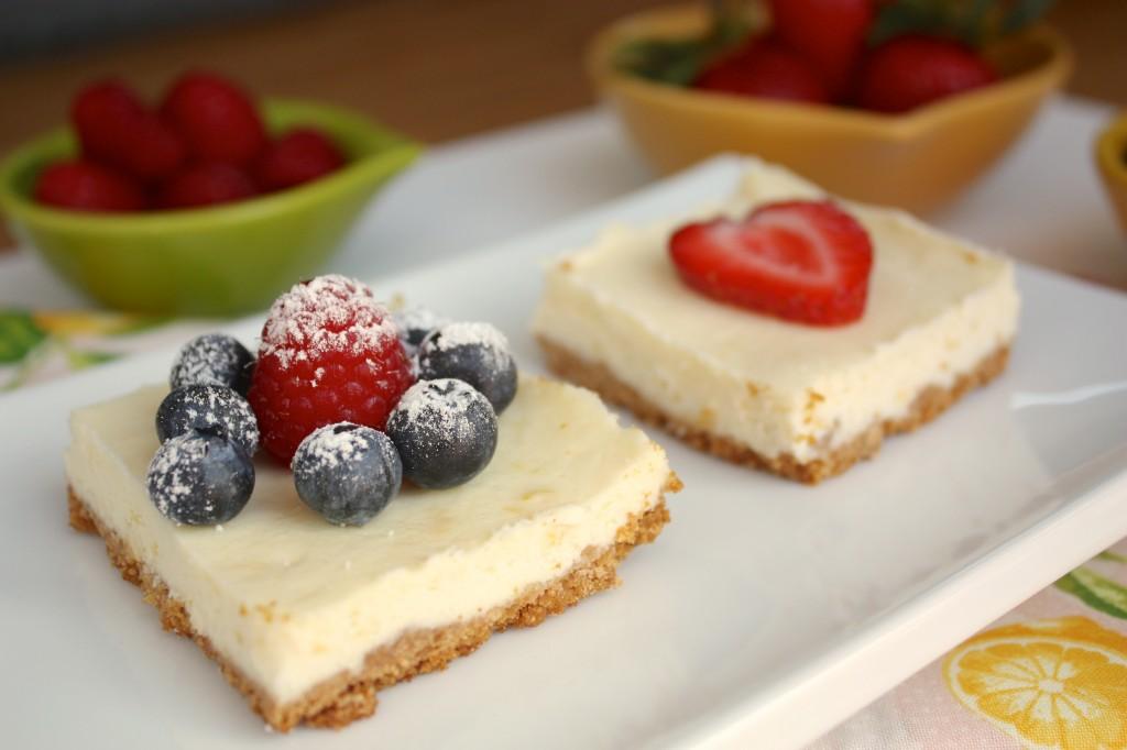 Lemon Cheesecake With Fresh Berries Recipe — Dishmaps