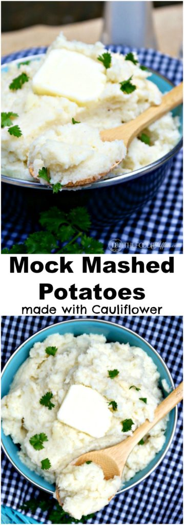 Mock Mashed Potatoes made with cauliflower! This fluffy low-carb side dish will surprise even the most discriminating taste buds! The Foodie Affair