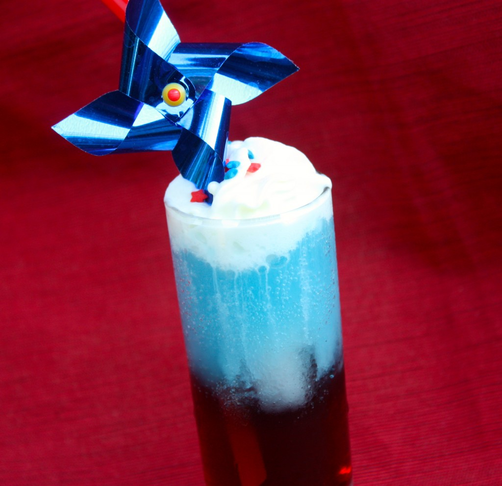 Red White and Blue Layered Shot Cocktail