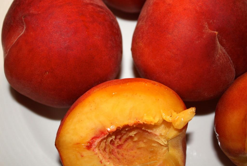peach, fresh, juicy