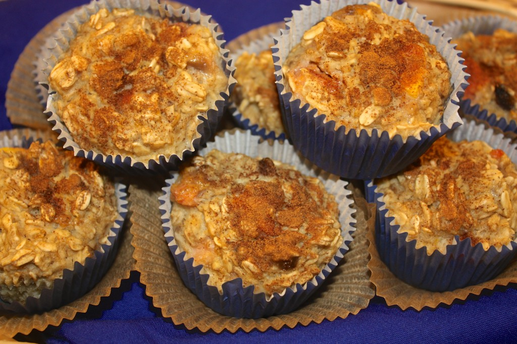 peach-banana-oatmeal-muffin-healthy-sugar-free