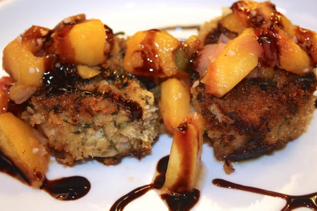 Pork Medallions and Peach Chutney