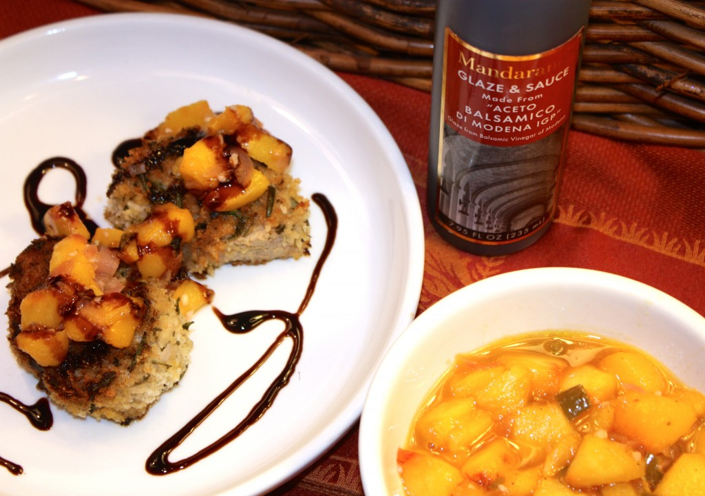 Pork Medallion and Peach Chutney with Balsamic Glaze