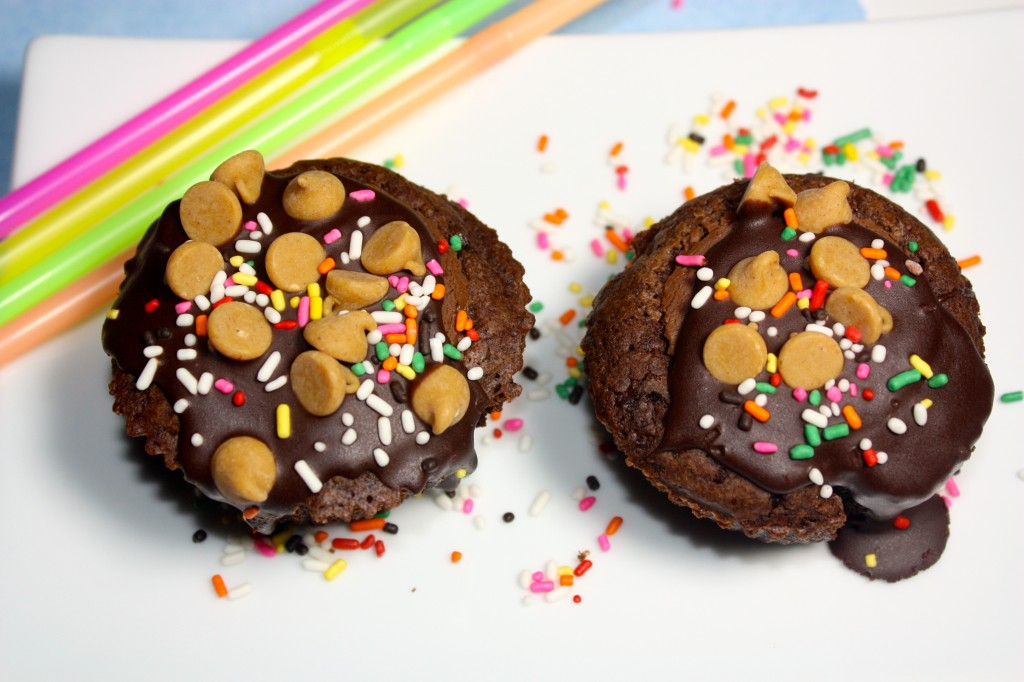 Brownie Cupcakes with Peanut Butter Cups