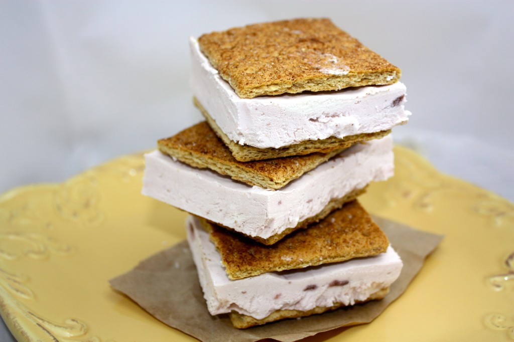 Cherry Greek Yogurt Ice Cream Sandwiches