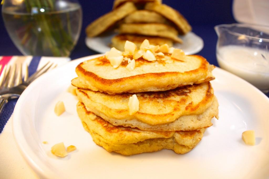Macadamia Nut Pancakes - The Foodie Affair