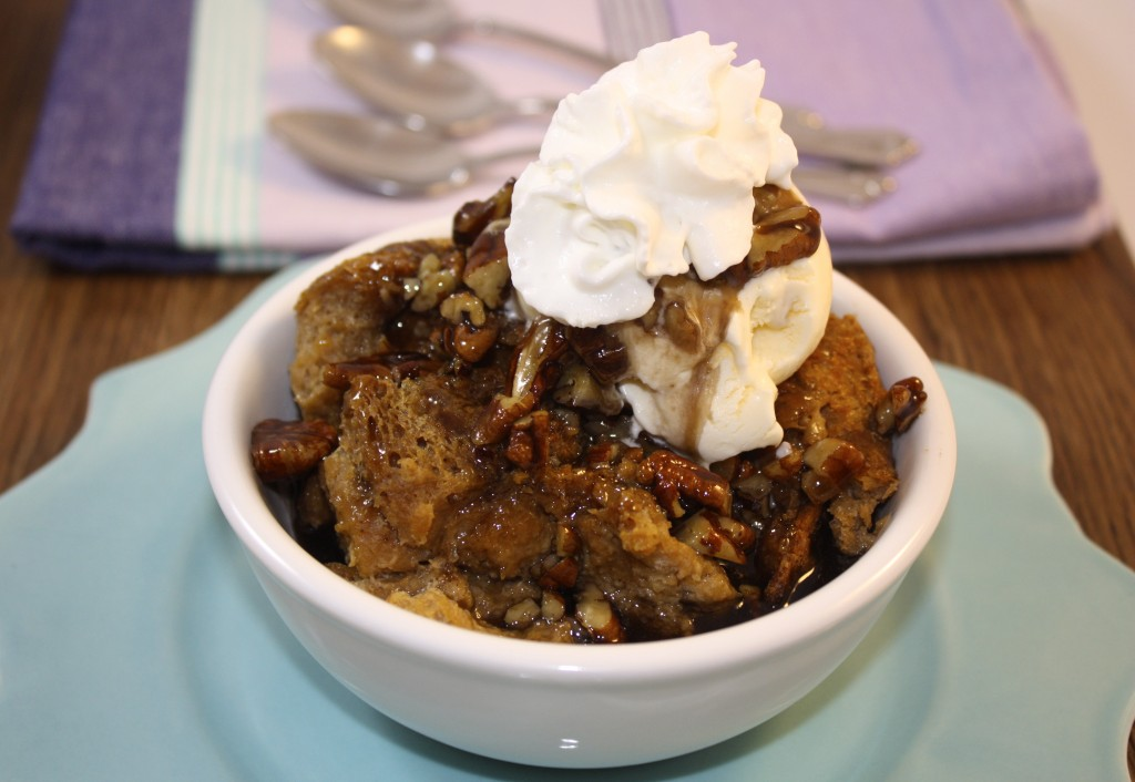 Chocolate Bread Pudding With Bourbon Pecan Sauce Recipes — Dishmaps