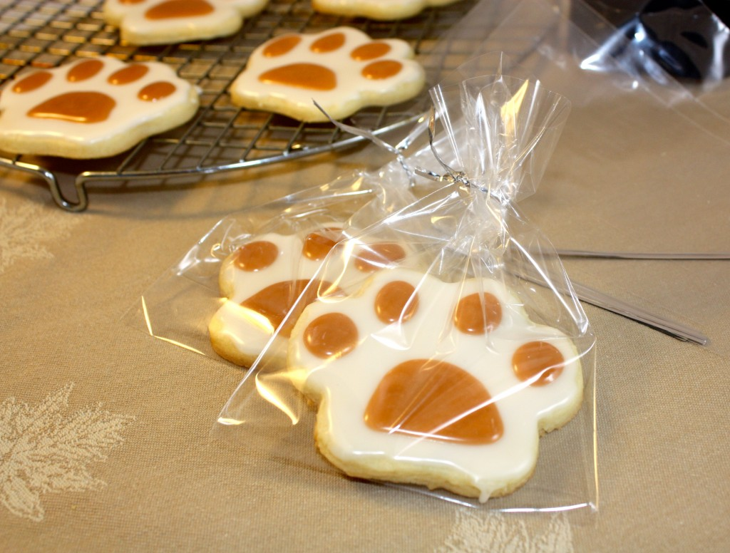 Paw Print Cut-Out Cookies - The Foodie Affair