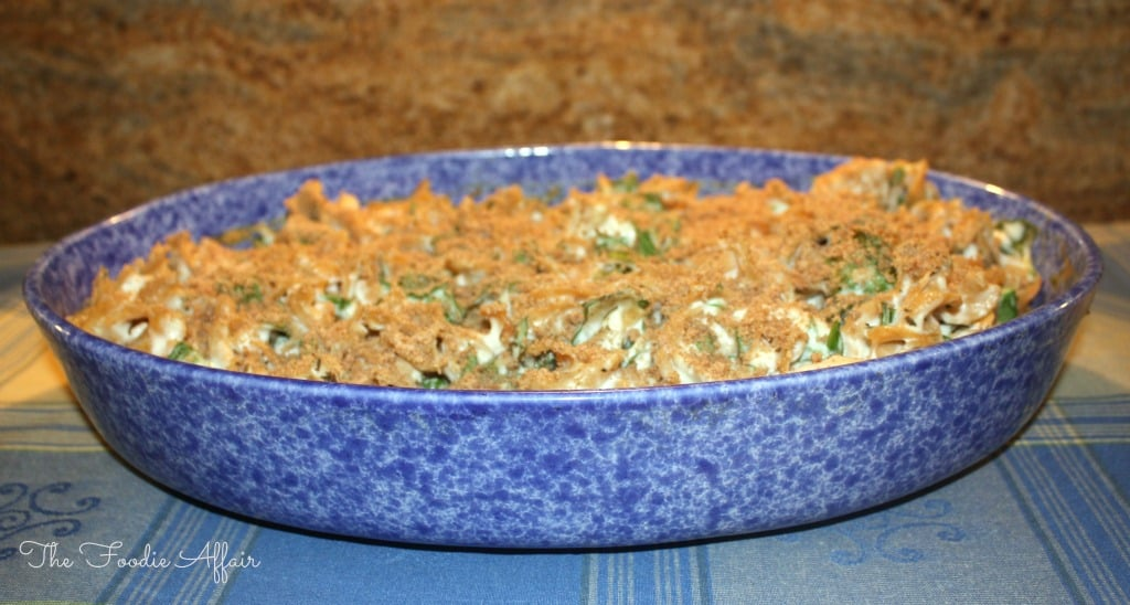 chicken, spinach, and Noodle Casserole - The Foodie Affair