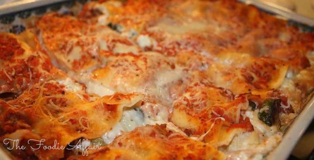 Full Flavored Vegetable Lasagna - The Foodie Affair