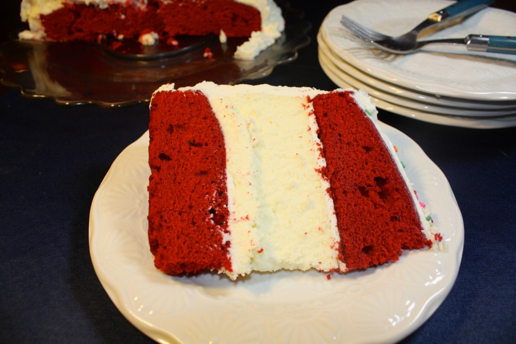 Red Velvet Cheesecake Celebration Cake - The Foodie Affair