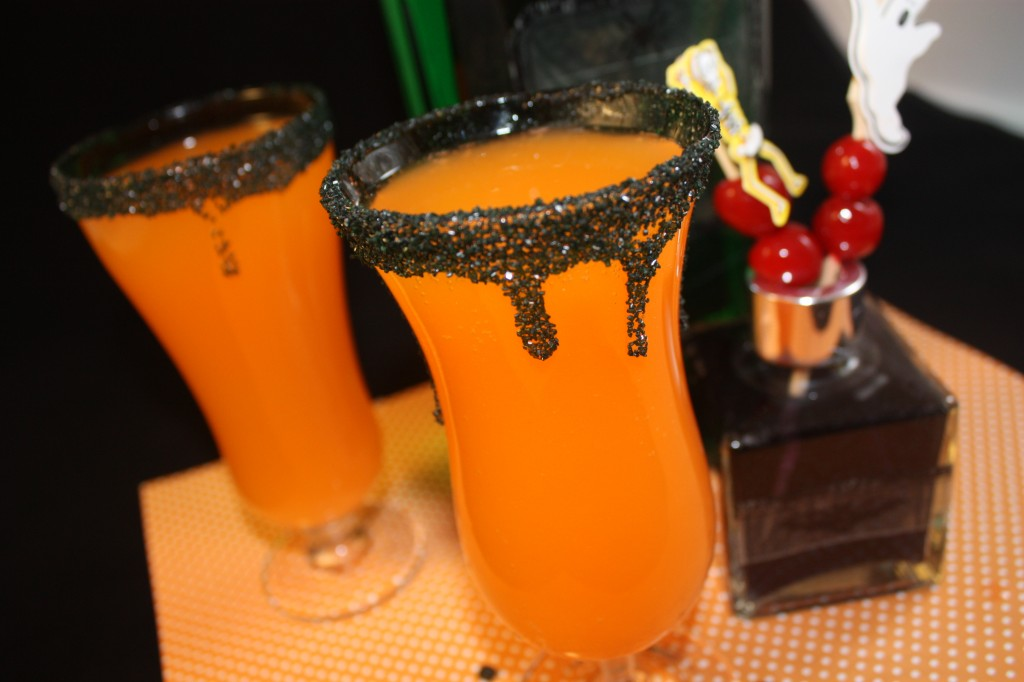 orange halloween cocktail