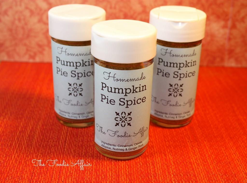 Homemade Pumpkin Pie Spice in glass jars