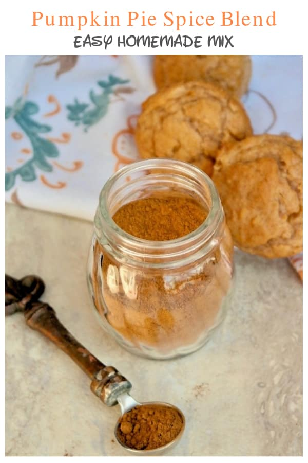 homemade pumpkin pie spice blend of cinnamon, ginger, nutmeg, allspice and cloves. Use this mix in all you recipes that call for pumpkin pie spice! #Fall #pumpkinspice #diy #easyrecipe   www.thefoodieaffair.com