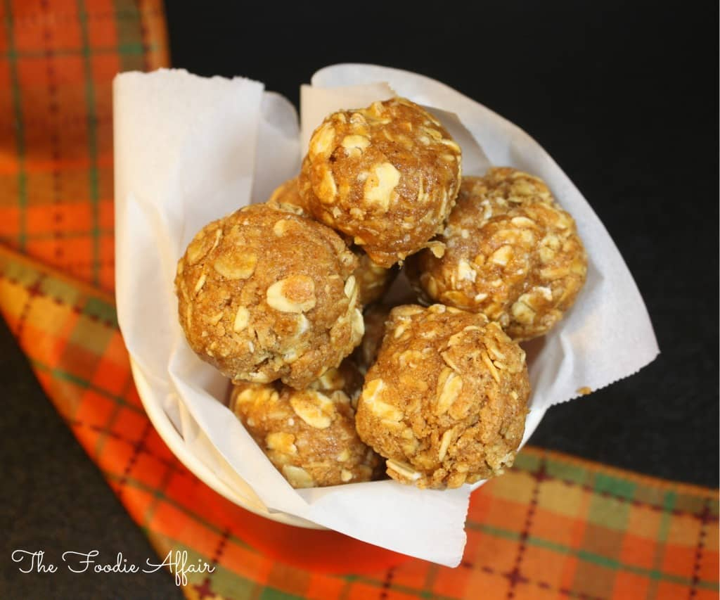 Pumpkin Protein Bites - The Foodie Affair