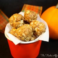 No-Bake Pumpkin Protein Bites with Fall Flavored Spices