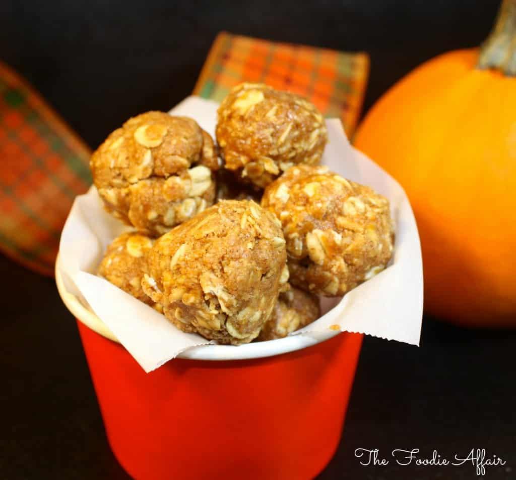 Pumpkin Protein Bites - The Foodie Affair