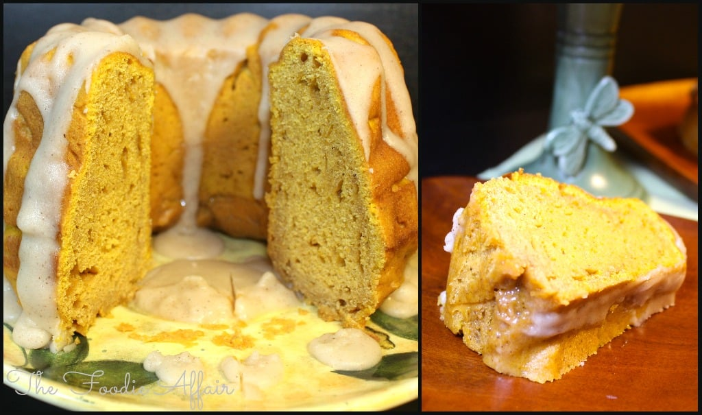 Pumpkin Bundt Pound Cake with Pumpkin Spice Glaze - The Foodie Affair