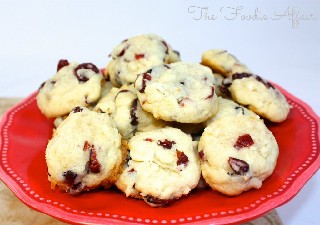 Cranberry Coconut Cookies - The Foodie Affair