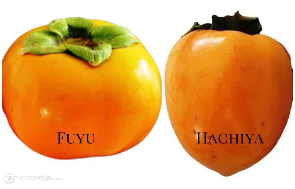 Fuyu and Hachiya Persimmons