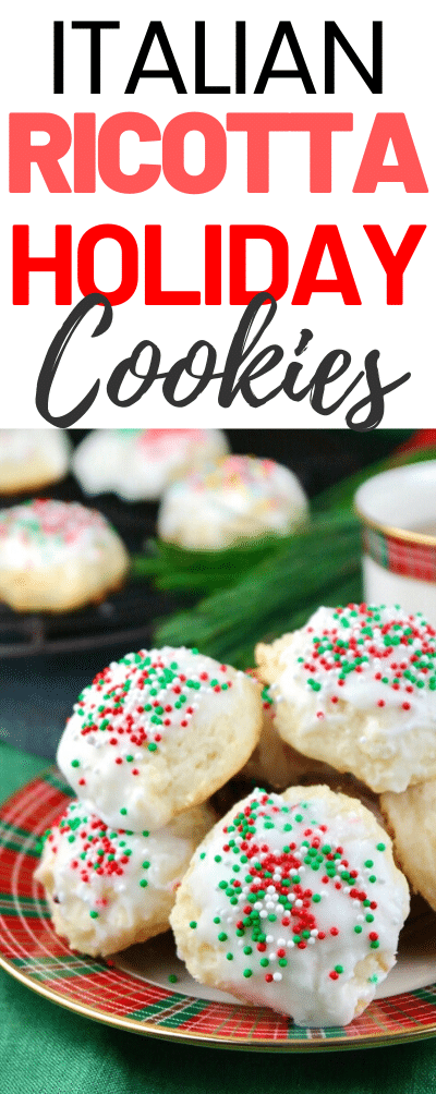 Ricotta Cheese Cookies are light, flavorful soft cookies with a cake-like texture. These cookies are a wonderful addition to any Christmas dessert platter. My recipe is an ideal ricotta cookie for sharing with others this holiday season. #cookies #christmas #Italian #ricotta #holiday #baking