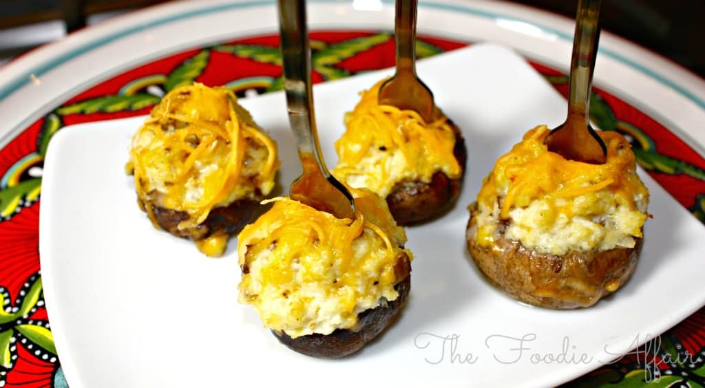 Crab and Cheese Stuffed Mushrooms - The Foodie Affair