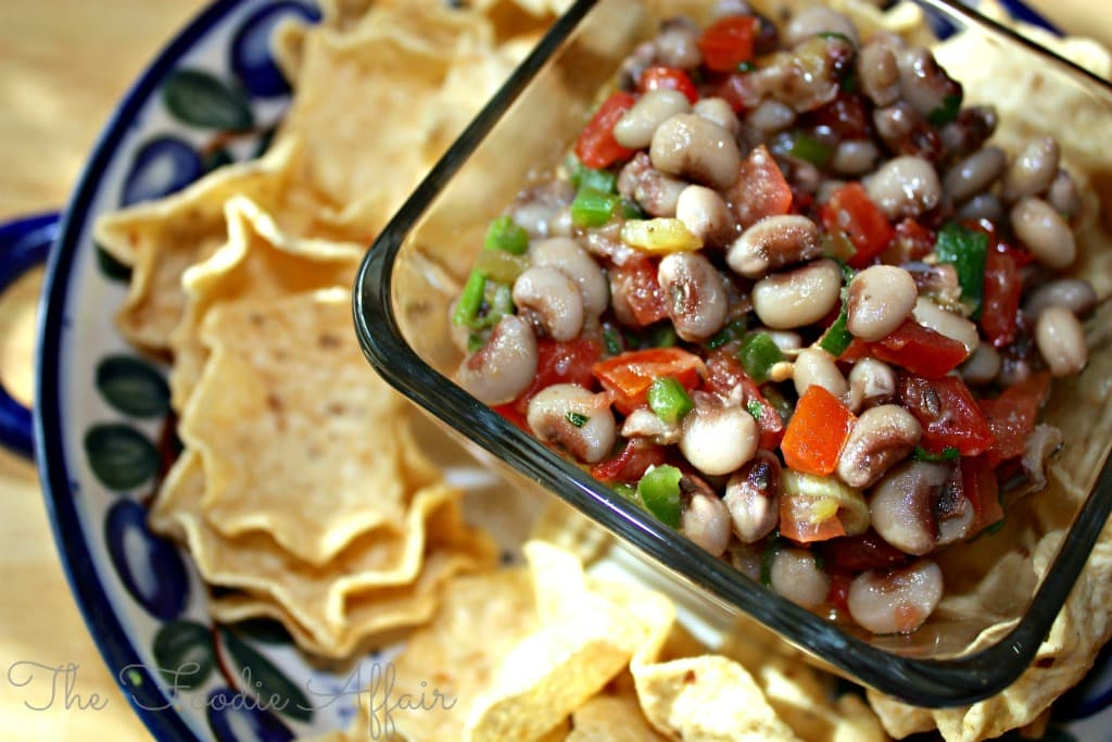 Texas Caviar Good Luck Black Eyed Pea Dip #dip #NewYear #recipe | www.thefoodieaffair.com