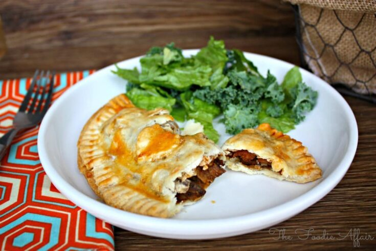 Beef and Potato Hand Pies on a white plate