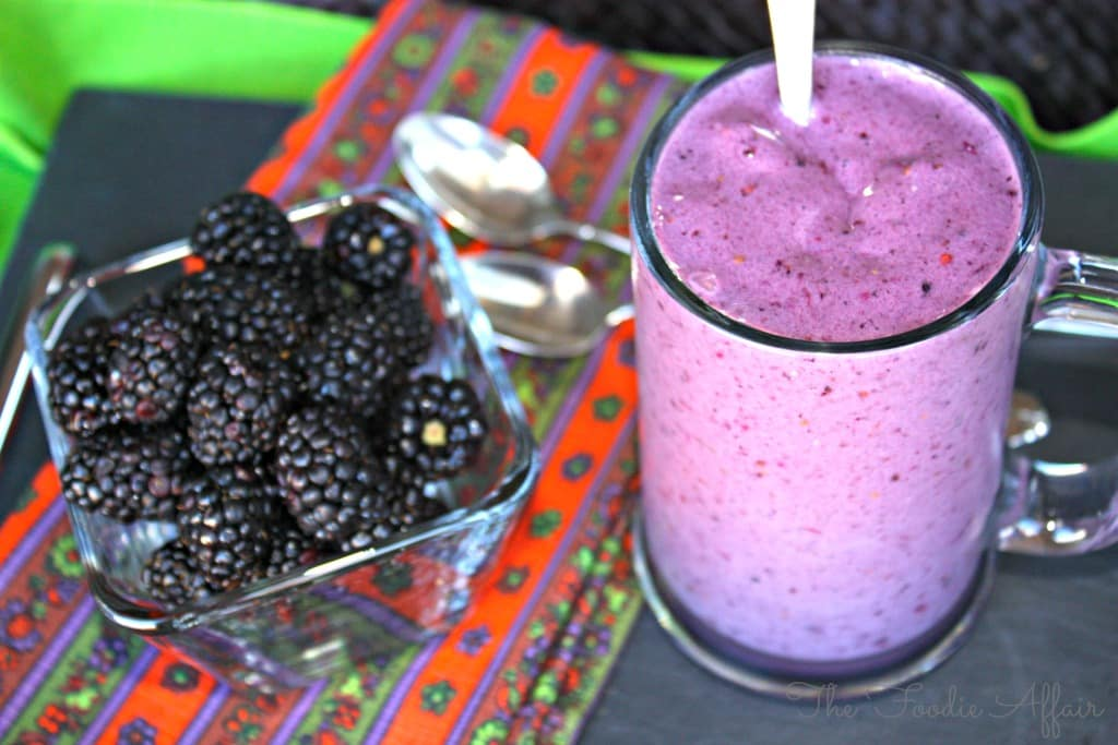 Blackberry and Banana Smoothie