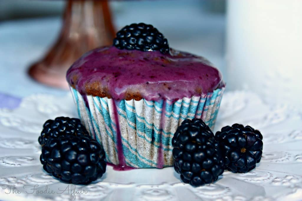 Blackberry Yogurt Muffins