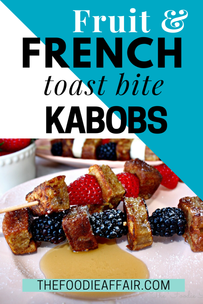 Breakfast never looked better! Fruit and French toast kabobs are perfect for bunch or breakfast. #brunch #frenchtoast