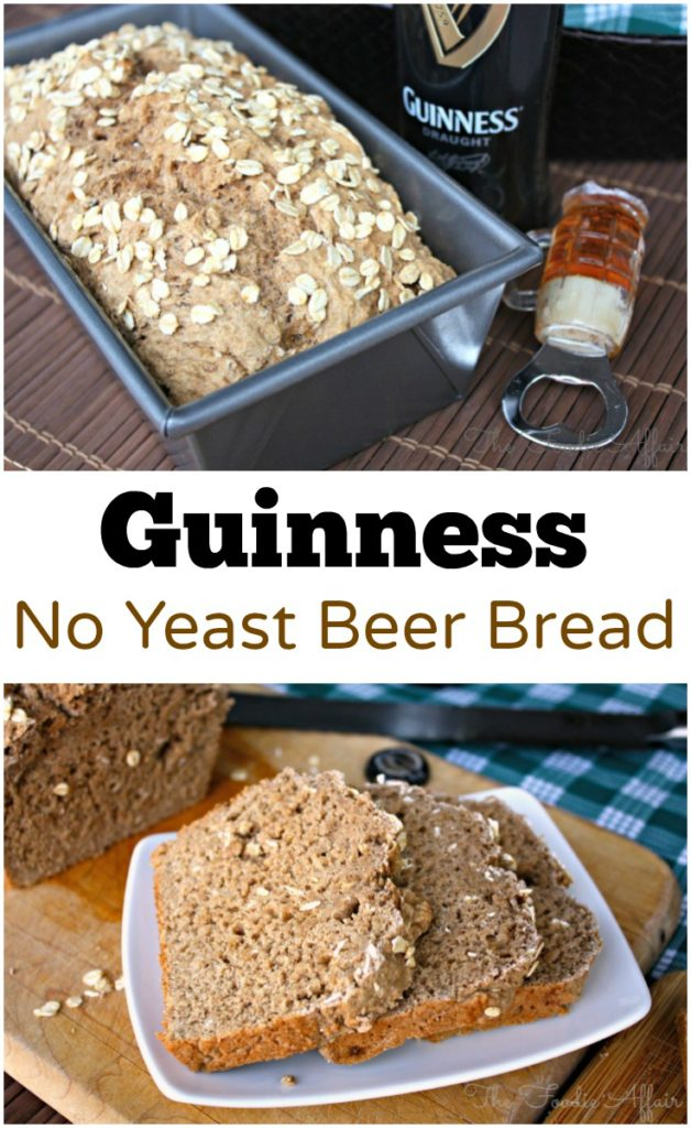 Easy Guinness Beer Bread made without any yeast! No waiting for the dough to rise, just mix and bake! The Foodie Affair