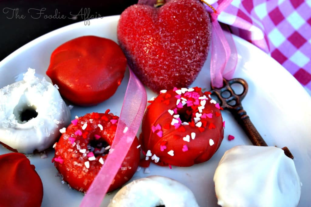 Mini Sweetheart Donuts - The Foodie Affair