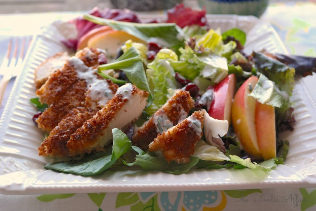 Garden Salad with Chicken - The Foodie Affair