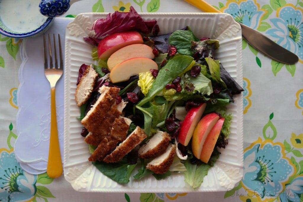 Garden Salad with Chicken - The Foodie Affair