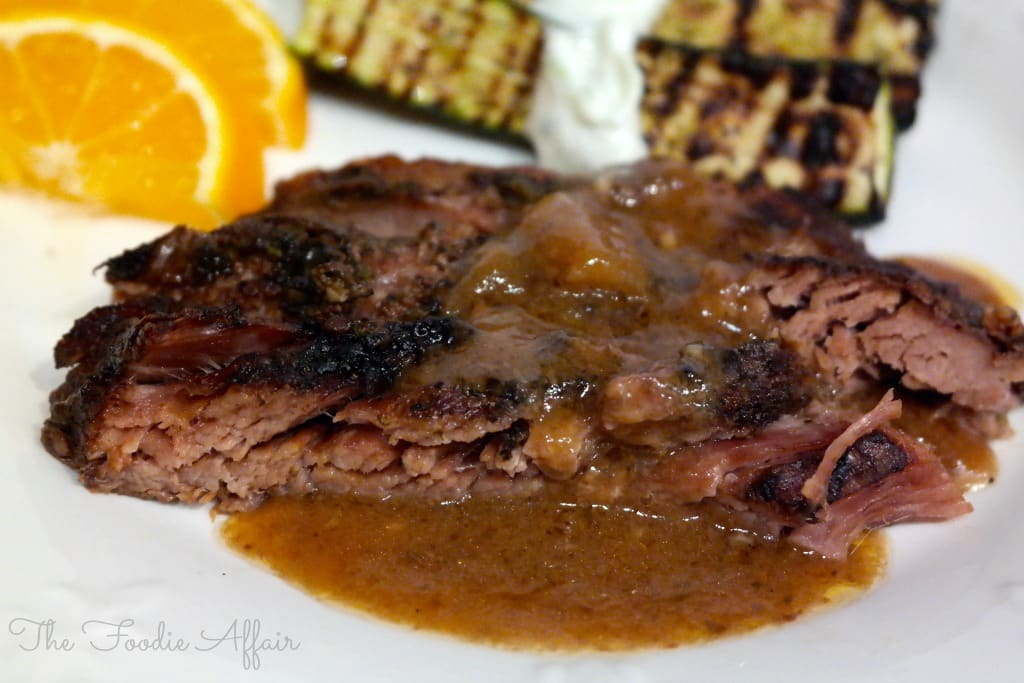 Greek Flank Steak Crock Pot - The Foodie Affair