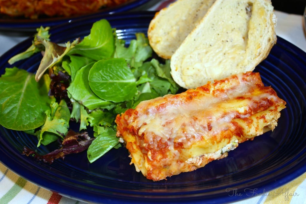 Manicotti Spinach Ricotta - The Foodie Affair
