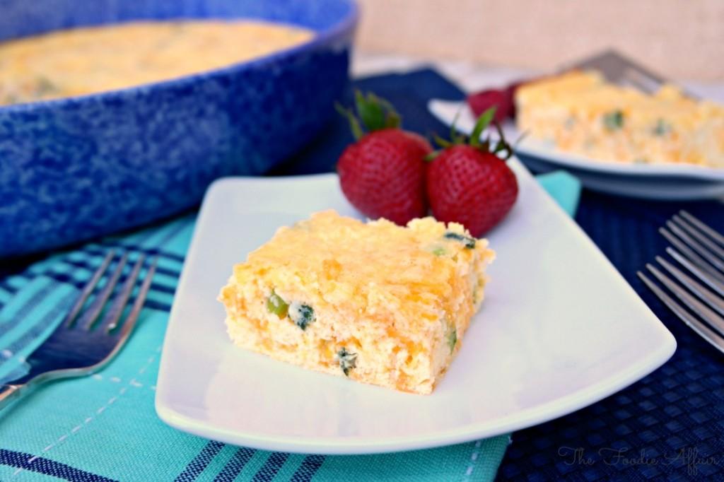 Cheddar Egg Casserole - The Foodie Affair