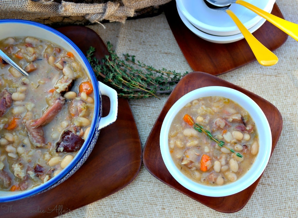 Ham and Bean Soup Crock Pot - The Foodie Affair