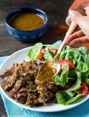 Greek Flank Steak Slow Cooker Meal
